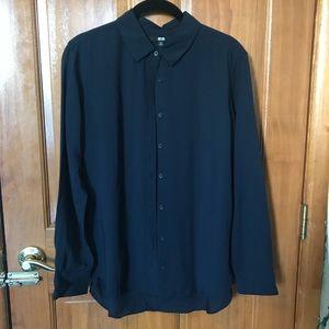 Women's uniqlo blouse button down